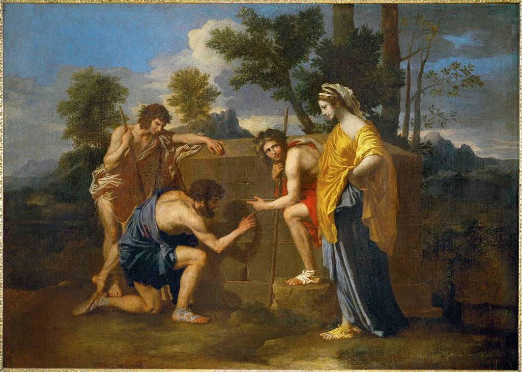 https://upload.wikimedia.org/wikipedia/commons/thumb/d/df/Nicolas_Poussin_-_Et_in_Arcadia_ego_%28deuxi%C3%A8me_version%29.jpg/1200px-Nicolas_Poussin_-_Et_in_Arcadia_ego_%28deuxi%C3%A8me_version%29.jpg